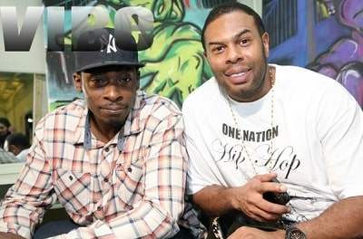 A picture of CL Smooth and Pete Rock.
